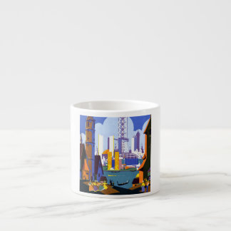 Vintage 1934 Chicago World Fair Travel Poster Espresso Cup