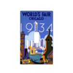 Vintage 1934 Chicago World Fair Travel Poster Switch Plate Covers