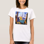 Vintage 1934 Chicago World Fair Travel Poster T-Shirt