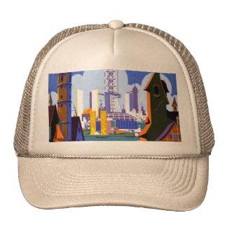 Vintage 1934 Chicago World Fair Travel Poster Trucker Hat