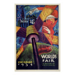 Vintage 1934 Chicago World's Fair Poster