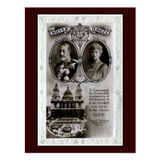 Vintage 1935, 25th jubilee accession King George V Postcard