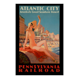 Vintage 1935 -Atlantic City Poster