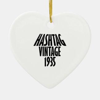 Vintage 1935 design ceramic ornament