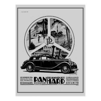 Vintage 1935 French iconic car art deco ad Postcard