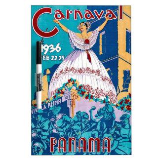 Vintage 1936 Carnaval de Panama Poster Dry-Erase Boards