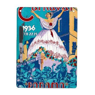 Vintage 1936 Carnaval de Panama Poster Dry Erase Board