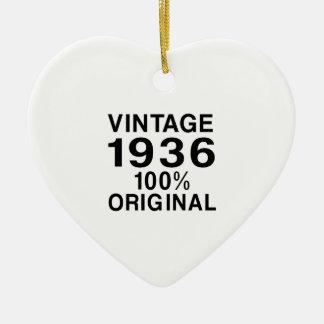 Vintage 1936 ceramic ornament