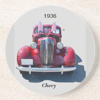 Vintage 1936 Chevrolet Drink Coaster