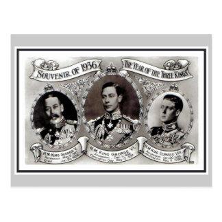 Vintage 1936 el año de los tres reyes postal