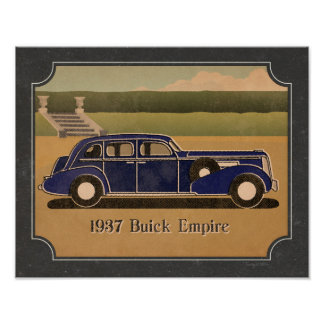 Vintage 1937 Buick Poster
