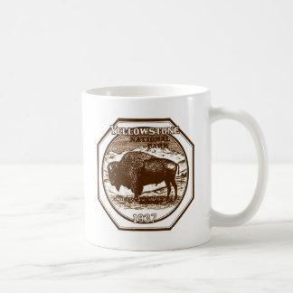 Vintage 1937 del parque nacional de Yellowstone Taza