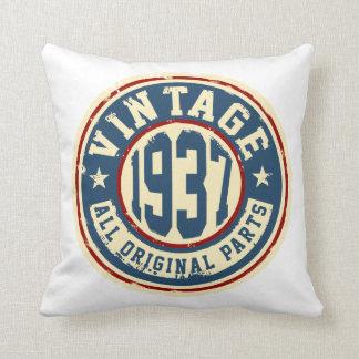 Vintage 1937 todas las piezas de la original cojín decorativo