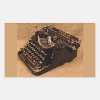 Vintage 1937 Underwood Typewriter Stickers