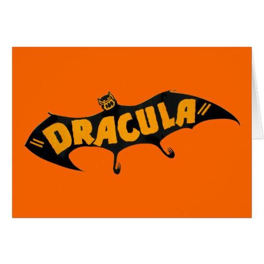 Vintage 1938 Dracula Vampire Bat Card