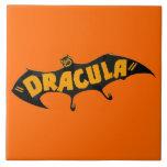Vintage 1938 Dracula Vampire Bat Ceramic Tile