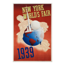 Vintage 1939 New York World's Fair Poster