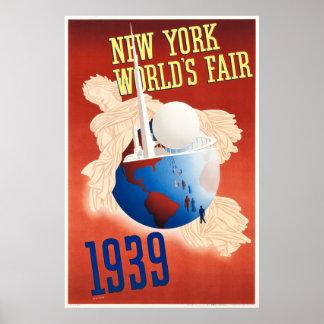 Vintage 1939 New York World's Fair Poster