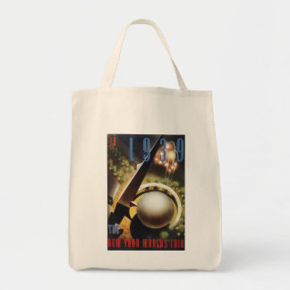 Vintage 1939 World's Fair New York City Tote Bag