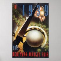 Vintage 1939 World's Fair Poster or Print