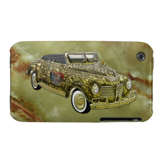 Vintage 1940 Plymouth P-10 Deluxe Custom Gold Conv iPhone 3 Case-Mate Case