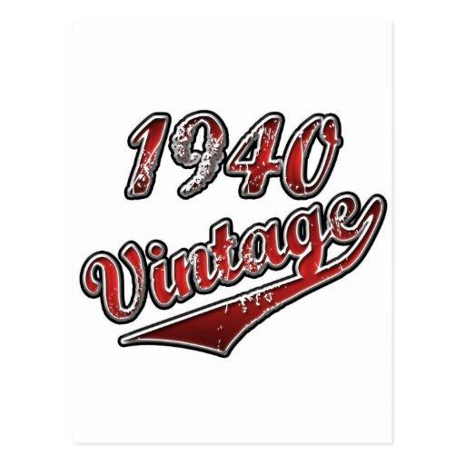 Vintage 1940 postal