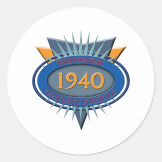 Vintage 1940 stickers