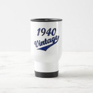 Vintage 1940 taza de viaje