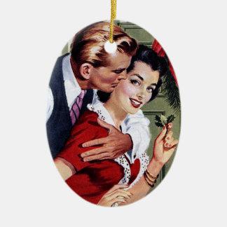 Vintage 1940's Christmas Print Christmas Ornament