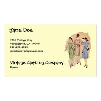 Vintage 1940s Fashion Business Card
