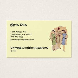 Vintage 1940s Fashion Business Card