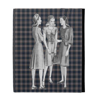 Vintage 1940s Fashion BW iPad Folio Cases