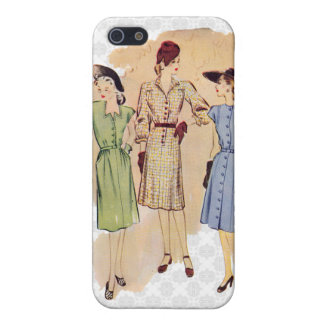 Vintage 1940s Fashion Cover For iPhone SE/5/5s