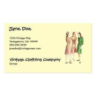 Vintage 1940s Fashion V2 Business Card