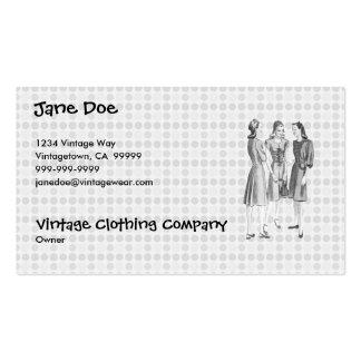 Vintage 1940s Fashion V2 BW Business Card