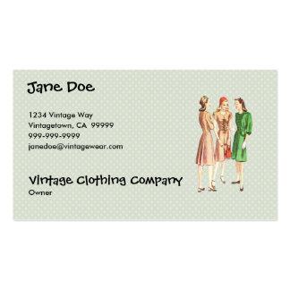 Vintage 1940s Fashion V2 Green Business Card