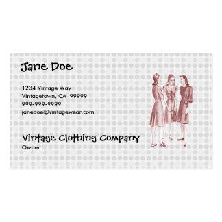 Vintage 1940s Fashion V2 Red Business Card