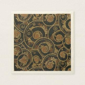 Vintage 1940's French Textile Paper Napkins