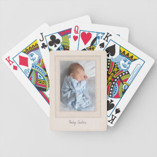 Vintage 1940s Mat with Customizable Photo Insert Bicycle Playing Cards