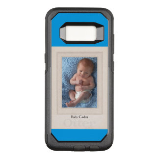Vintage 1940s Mat with Customizable Photo Insert OtterBox Commuter Samsung Galaxy S8 Case