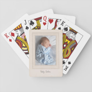 Vintage 1940s Mat With Customizable Photo Insert Playing Cards at Zazzle
