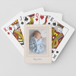 Vintage 1940s Mat with Customizable Photo Insert Playing Cards