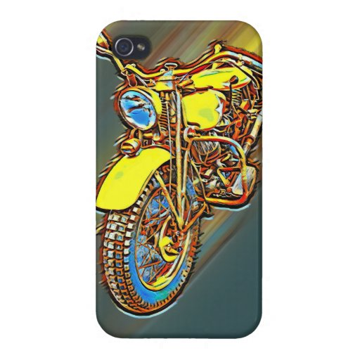 Vintage 1940's motor cycle case for iPhone 4