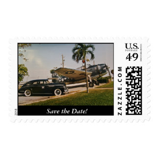 Vintage 1940's Save the Date! Postage