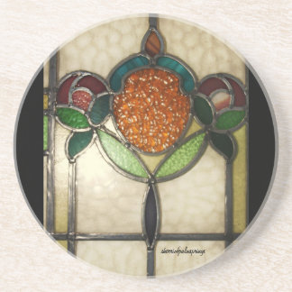 vintage, 1940's stained glass look, Coasters
