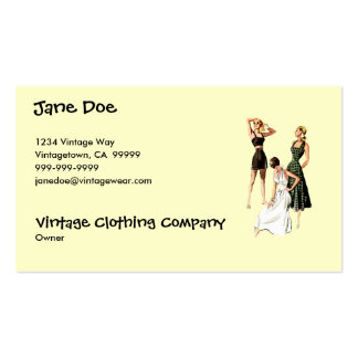 Vintage 1940s Summer Fashions Business Card