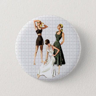 Vintage 1940s Summer Fashions Pinback Button