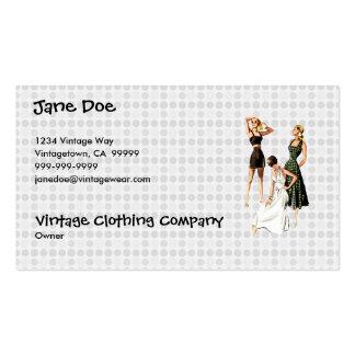 Vintage 1940s Summer Fashions V2 Business Card