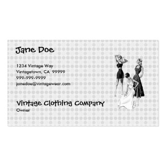 Vintage 1940s Summer Fashions V2 BW Business Card