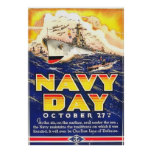 Vintage 1941 Navy Day Poster WWII